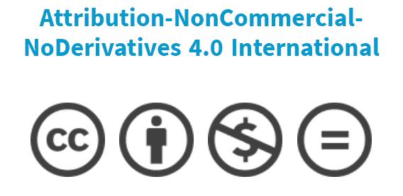 Attribution-NonCommercial-NoDerivatives 4.0 International