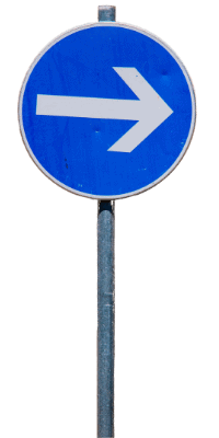 Direction sign to right