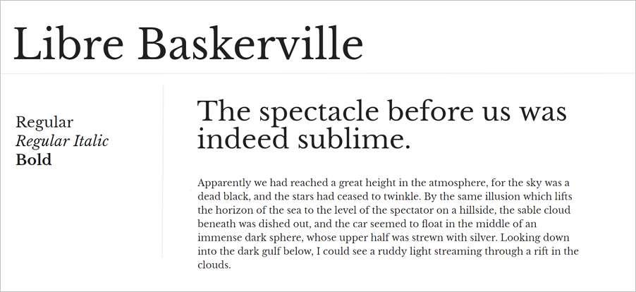 Libre Baskerville