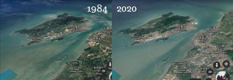 Google Earth近年最大更新 見證檳城發展36年