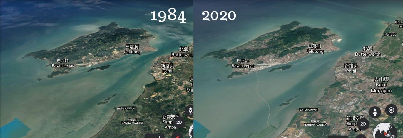 Google Earth見證檳城發展36年
